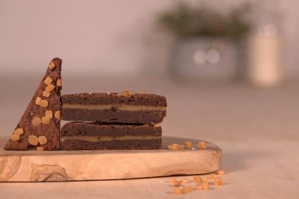 salted caramel brownie per post