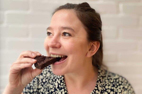 Vegan brownie per post
