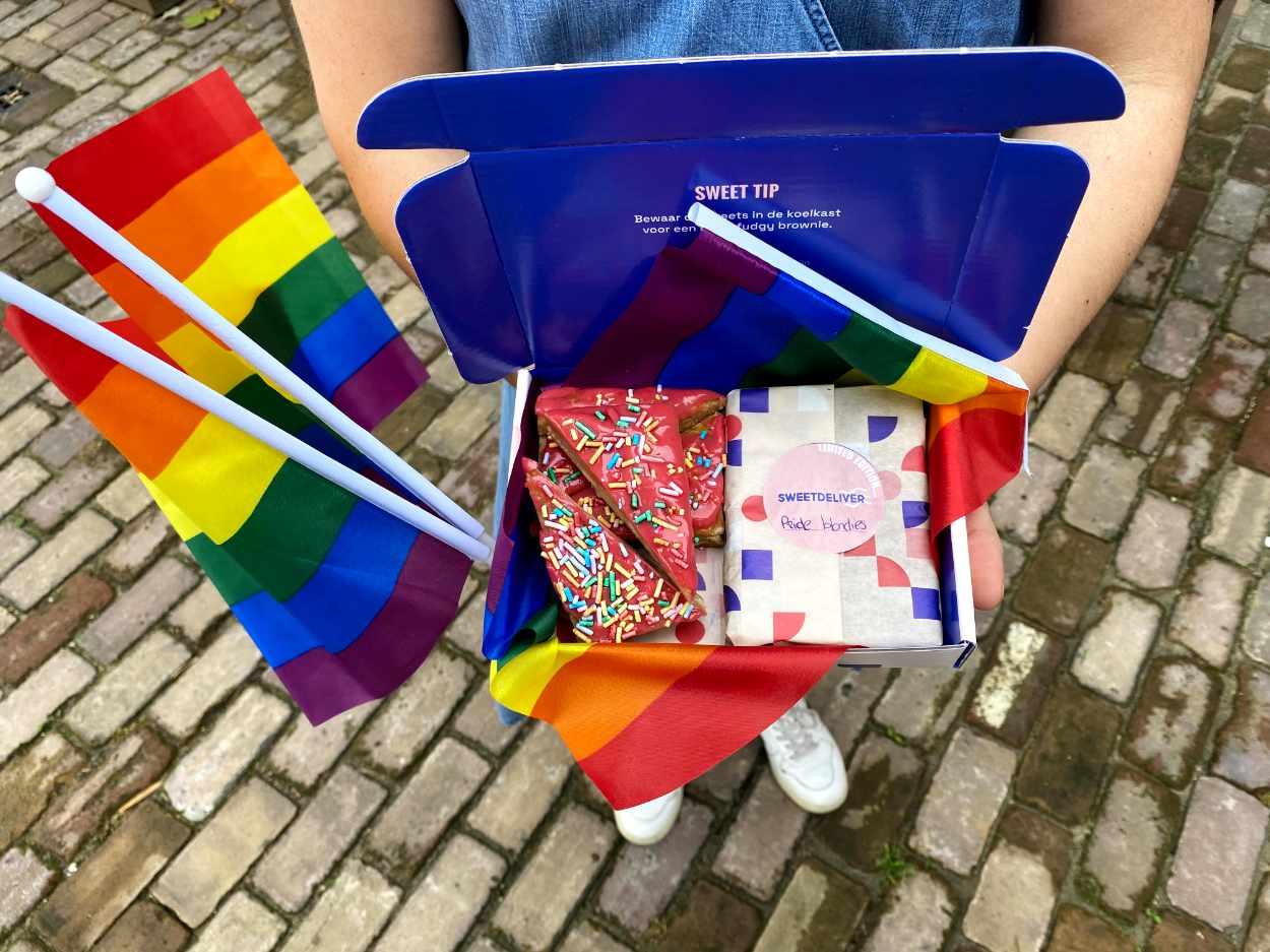 Pride brownie box